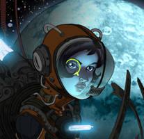 Space Punk (quick light study) by lummage