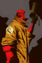 Hellboy by lummage