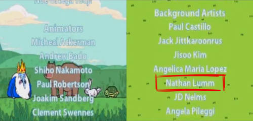 Adventure Time: Hey Ice King! game credits. by lummage