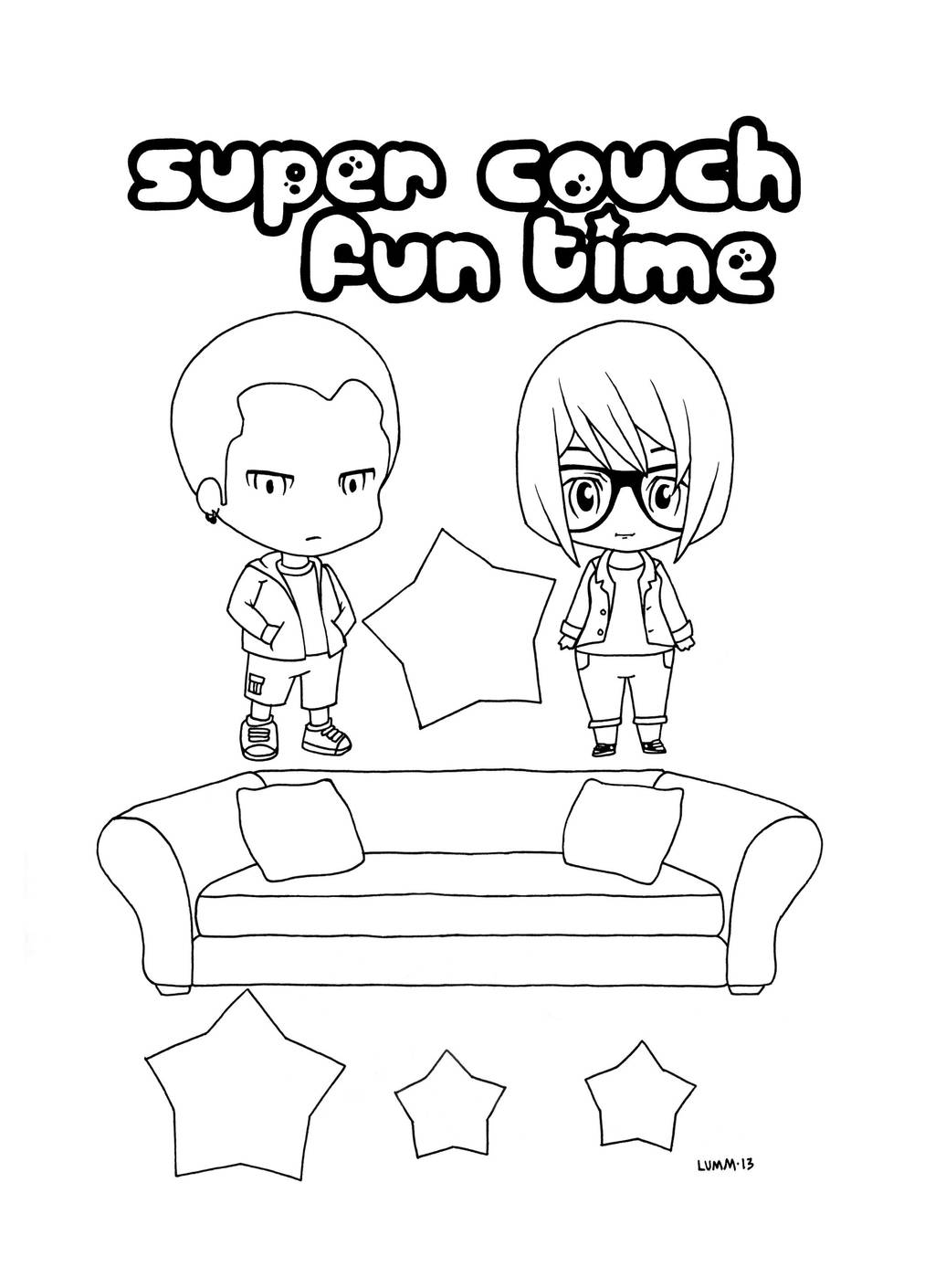 Super Couch Fun Time banner art assets by lummage