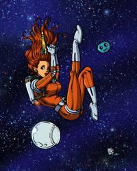 Space Girl by Ben Dunn by lummage