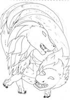 Dragons (Quick Drawing) by MagsGallery