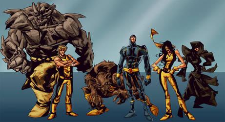 Joh James' Young X-Men by michael-e-wiggam