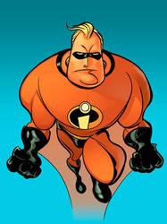 Derek Fridolf's Mr. Incredible by michael-e-wiggam