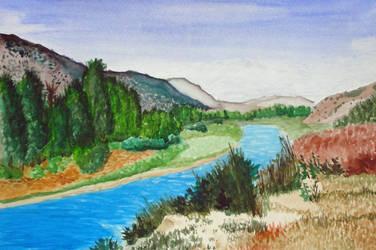 Western River Vista by Alnix