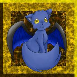 Blue Dragon Cat by JesuDesu22