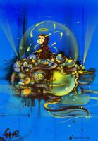 monkey gone to heaven by saltyshadow