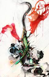 Artisitc Chameleon by saltyshadow