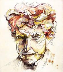 Bob Dylan Portrait by saltyshadow