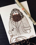 Kind-hearted Hagrid by tiachristiner