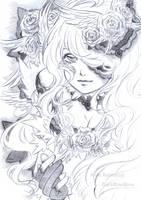 Sketch Comission - Rose by ArianRahmatzai