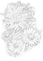 Floral Flower Tattoo Sleeve by BeniaminoBradi