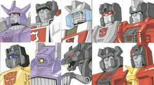 Sketch Cards - Transformers 3 by AJSabino