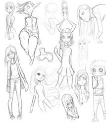 February sketches by XxLei-chanxX