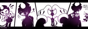 Demon, ya' cute! by VanxllaVixen