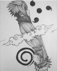 Naruto and Sasuke by iamshadowartist