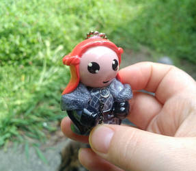 GoT Lady Sansa polymer clay ornament by ShadyDarkGirl