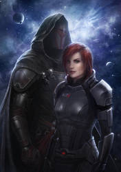 Shepard and Revan by eagle917