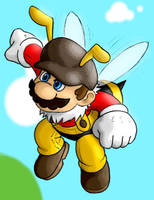 Bee Mario by AIBryce