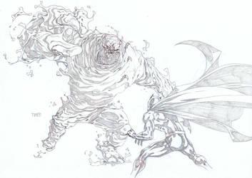 Batman VS Clay face by timothygreenII