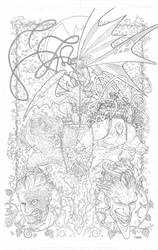 BATMAN adult coloring book cover by timothygreenII