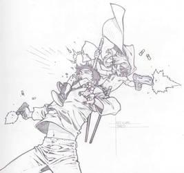 HIT-GIRL stab shoot by timothygreenII