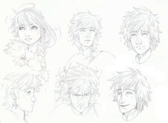How to train your dragon- hiccup and Astrid by timothygreenII