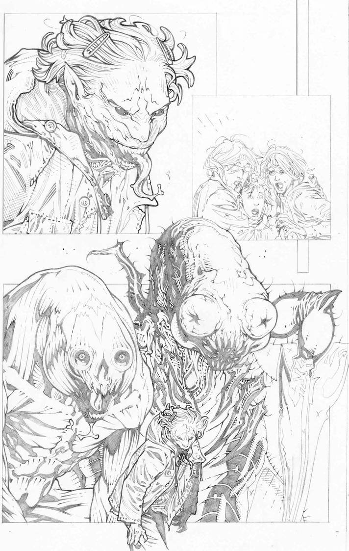 Animal man 16 pencils page 17 by timothygreenII