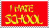 I Hate School Stamp by erana