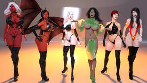 Chaos! Comics Girls and Vampirella by eliasw84