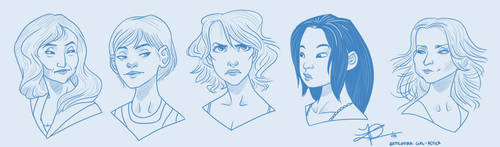 BSG gals doodle by thundercake