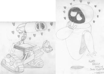Happy (Late) Birthday WALL-E!!! by masterreviewer1000