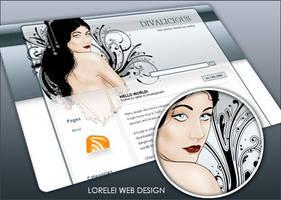 DivaLicious wordpress theme by Loreleike