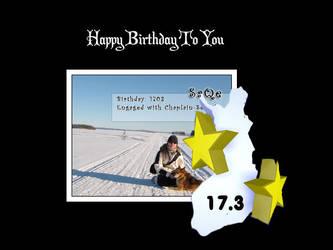 Happy birthday Saqe by fi