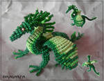 Beaded Grass Dragon by Dragarta