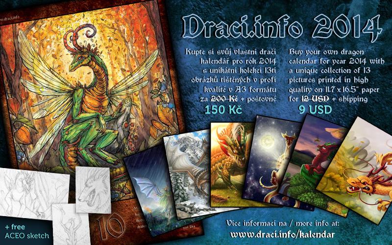 Dragon calendar 2014 - now at a discount! by Dragarta
