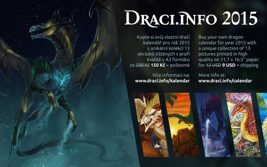 Dragon calendar Draci.info 2015, now 25% discount! by Dragarta