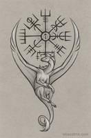 Dragon Calendar - Vegvisir by Dragarta