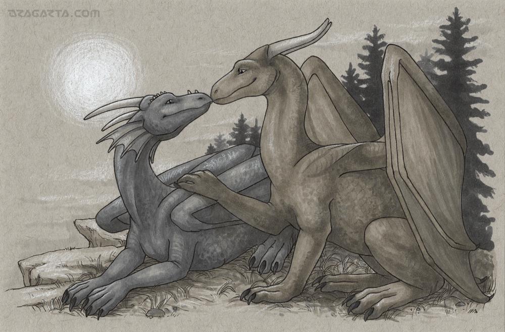 Dragon Calendar - Happy Couple by Dragarta