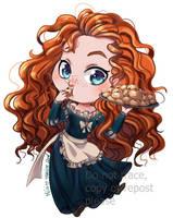 Disney chibi Maid - Merida by Meg-Marmite