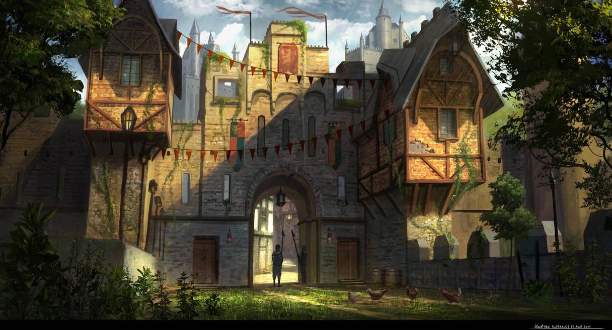 Castle Gate by JonathanDufresne