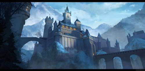 Castle snow by JonathanDufresne
