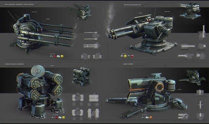 Turret Concept Art by JonathanDufresne