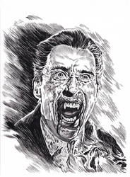 Christopher Lee as Dracula by DugNation