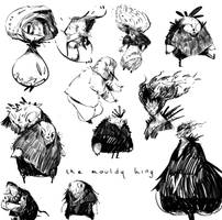 The mouldy king sketches by SandroRybak