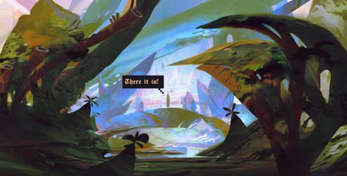 Entry to the hidden crystal village by SandroRybak