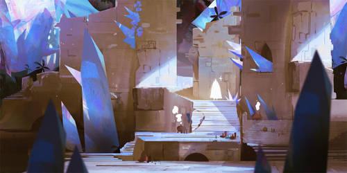 Ruins of the Hidden Crystal Village by SandroRybak