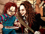Chucky VS Bart Curlish by HumanPinCushion