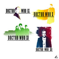 Final Fantasy x Doctor Who Logo Crossover by mannytintin