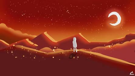 Orange Night Sky by mannytintin
